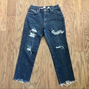 Vintage Calvin Klein Distressed High Waist Jeans